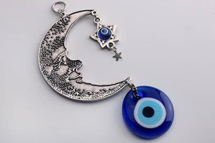El Ojo Turco Colgante-ojo-turco-luna-y-estrella--13-cms